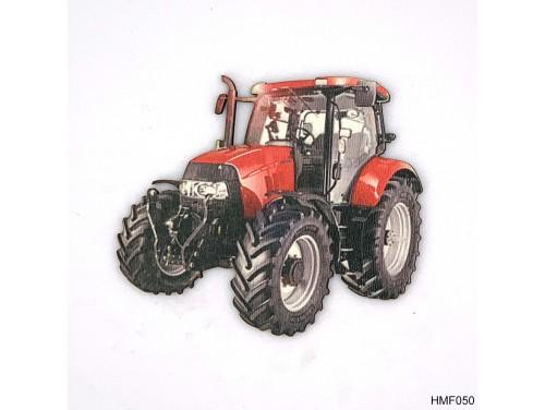 (HMF050) Forma Hűtőmágnes - Piros Traktor