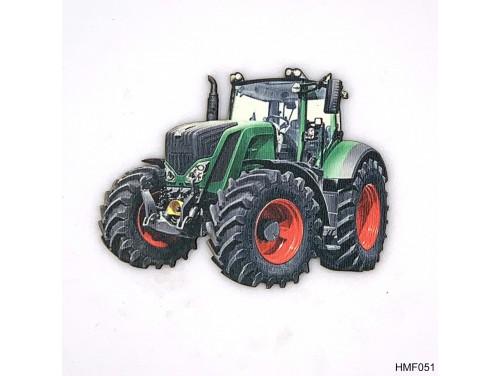 (HMF051) Forma Hűtőmágnes - Zöld Traktor