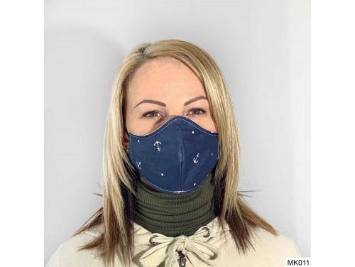 (MK011) Szájmaszk - Sötét kék horgony mintás szájmaszk