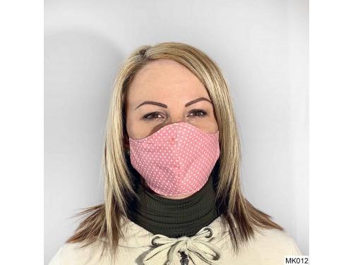 (MK012) Szájmaszk - Rózsaszín pöttyös mintás szájmaszk