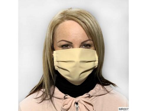 (MR007) Redözött szájmaszk - Pasztel sárga szájmaszk