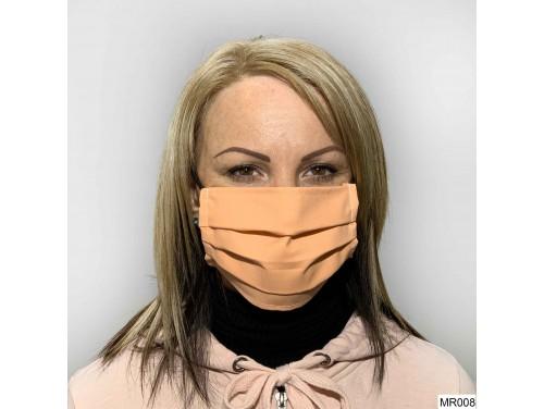 (MR008) Redözött szájmaszk - Narancssárga szájmaszk