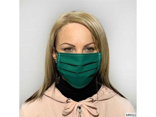 (MR022) Redözött szájmaszk - Zöld szájmaszk