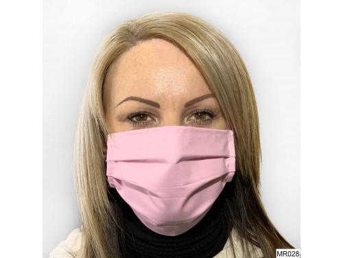 (MR028) Redözött szájmaszk - Rózsaszín szájmaszk
