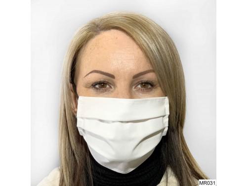 (MR031) Redözött szájmaszk - Fehér szájmaszk