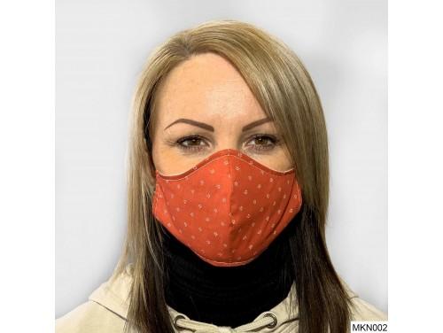 (MKN002) Szájmaszk - Piros fehér mintás szájmaszk