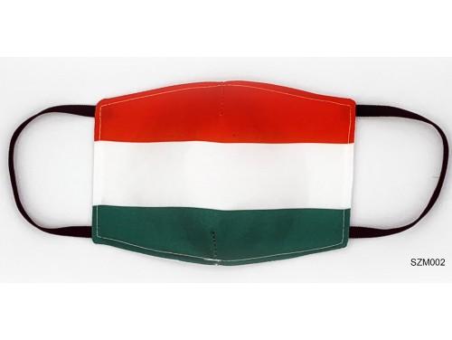 (SZM002) Szájmaszk - Magyar zászlós szájmaszk