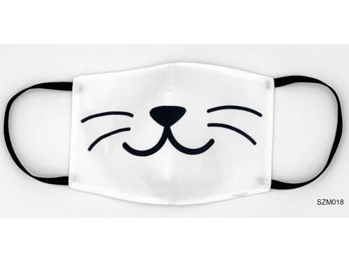 (SZM018) Szájmaszk - Macska bajszos szájmaszk