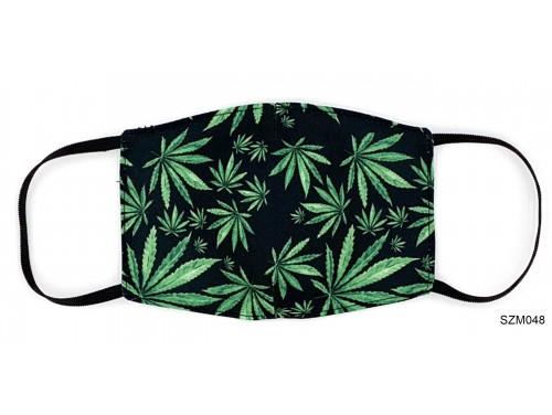 (SZM048) Szájmaszk - Cannabis mintás szájmaszk