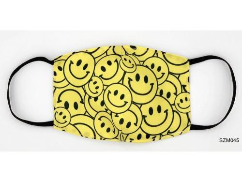 (SZM045) Szájmaszk - Sok sárga fejes szájmaszk