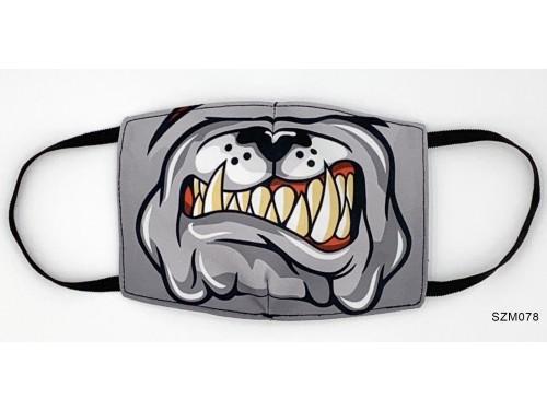 (SZM078) Szájmaszk - Bulldog kutyás szájmaszk