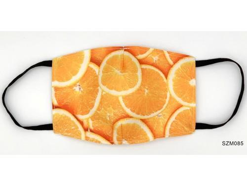 (SZM085) Szájmaszk - Narancs mintás szájmaszk
