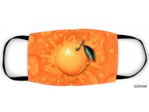 (SZM086) Szájmaszk - Narancs mintás narancsos szájmaszk