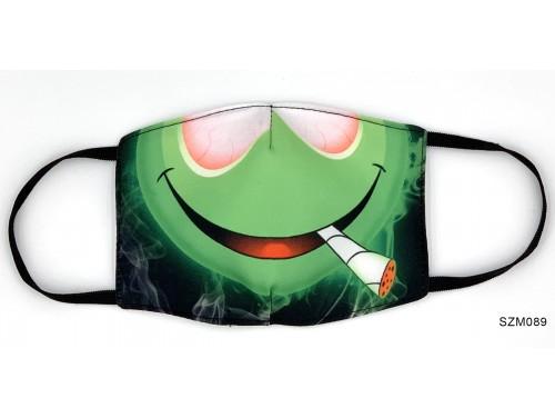 (SZM089) Szájmaszk - Betépett fejes Cannabisos szájmaszk