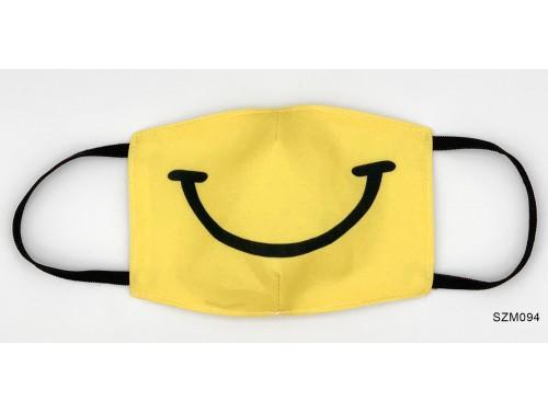 (SZM094) Szájmaszk - Sárga mosoly mintás szájmaszk