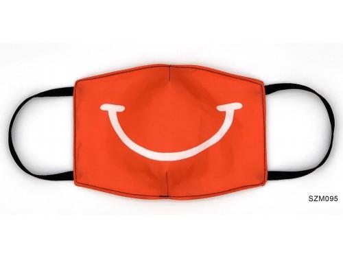 (SZM095) Szájmaszk - Piros mosoly mintás szájmaszk