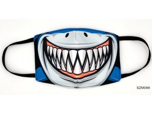 (SZM099) Szájmaszk - Cápa fogsor mintás szájmaszk