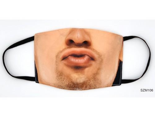 (SZM106) Szájmaszk - Csücsörítő férfi szájmaszk