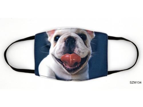 (SZM134) Szájmaszk - Cuki Bulldog kutyás szájmaszk