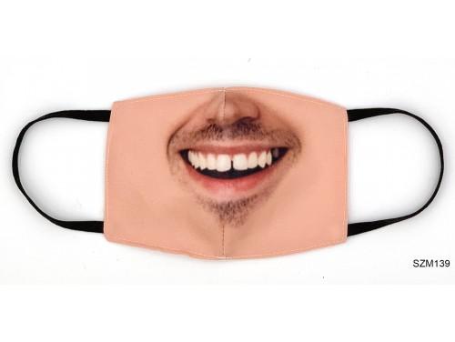 (SZM139) Szájmaszk - Ferfi arc mintás szájmaszk