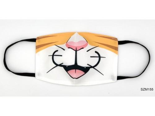 (SZM155) Szájmaszk - Vörös macskás szájmaszk