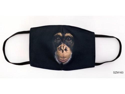 (SZM163) Szájmaszk - Fekete Csimpánz Majom szájmaszk