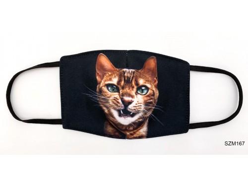 (SZM167) Szájmaszk - Macskás cicás szájmaszk