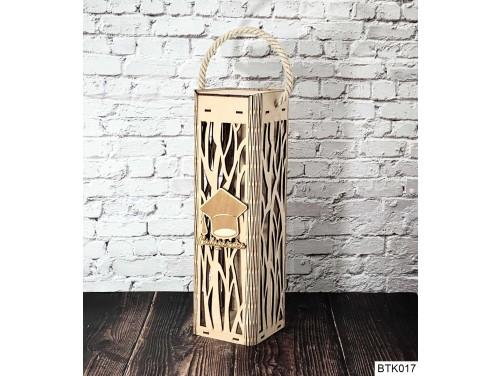 (BTK017) Ballagásodra feliratú - Mintás Bortartó doboz ballagásra