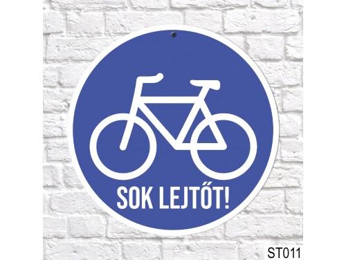 (ST011) Biciklis tábla, sebességkorlátozó tábla 40 cm – Biciklis ajándék ötletek