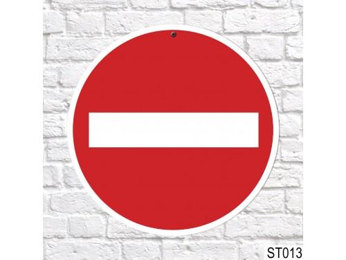 (ST013) Behajtani tilos tábla, sebességkorlátozó tábla 40 cm – Vicces ajándék ötletek