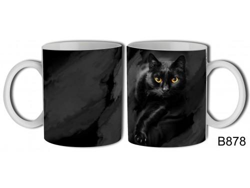 (B878) Bögre 3 dl - Fekete macska Bögre – Fekete macskás Ajándék