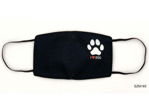 (SZM193) Szájmaszk - I love dog feliratú szájmaszk