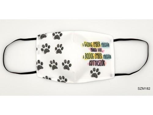 (SZM182) Szájmaszk - Boldog Ember Pólóján Kutyaszőr