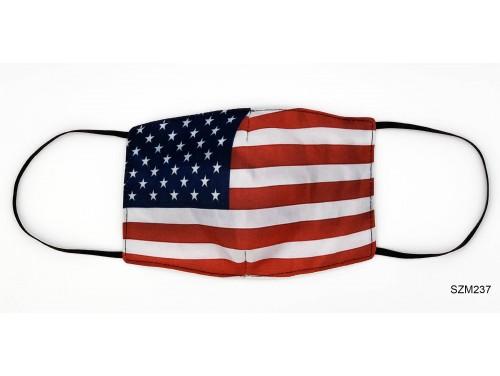 (SZM237) Szájmaszk - Amerikai zászló mintás szájmaszk