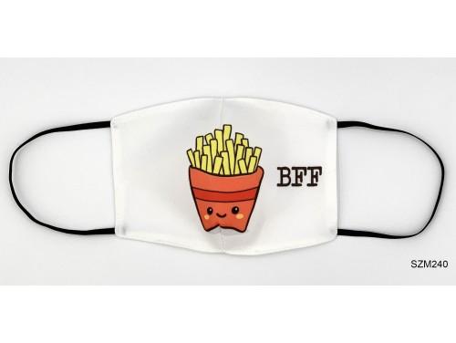 (SZM240) Szájmaszk - BFF Sült Krumpli mintás szájmaszk