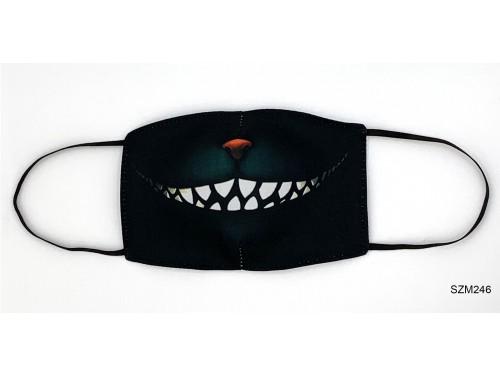 (SZM246) Szájmaszk - Macska száj mintás szájmaszk
