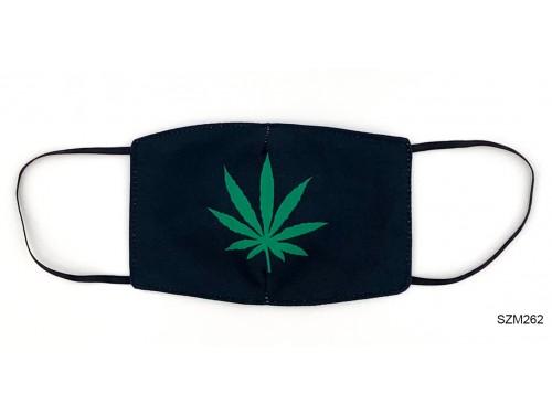 (SZM262) Szájmaszk - Cannabis levél mintás szájmaszk