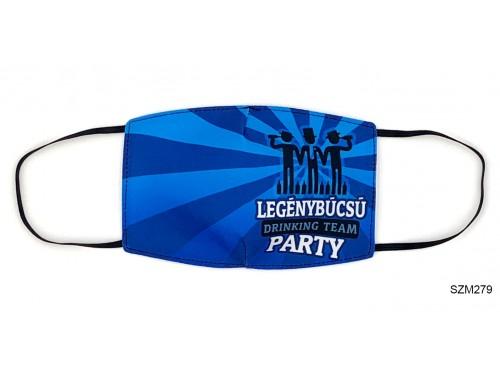 (SZM279) Szájmaszk - Legénybúcsú party mintás szájmaszk