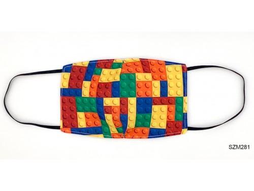 (SZM281) Szájmaszk - Legos mintás szájmaszk