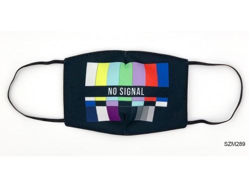 (SZM289) Szájmaszk - No signal mintás szájmaszk
