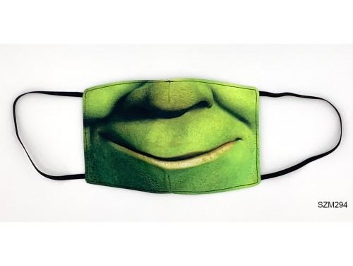 (SZM294) Szájmaszk - Zöld száj mintás szájmaszk