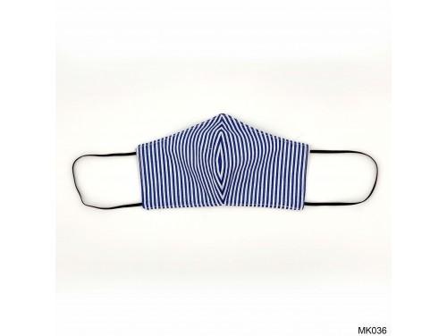(MK036) Szájmaszk - Kék fehér csíkos szájmaszk