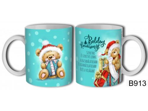(B913) Bögre 3 dl - Szeretni és szeretve lenni - Karácsonyi ajándékok