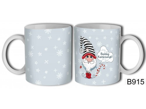 (B915) Bögre 3 dl - Gnome Boldog Karácsonyt - Karácsonyi ajándékok