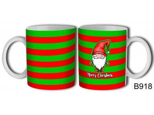 (B918) Bögre 3 dl - Merry Christmas Gnome - Karácsonyi ajándékok