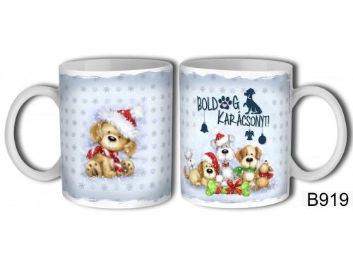(B919) Bögre 3 dl - BolDOG Karácsonyt kutyás - Karácsonyi ajándékok