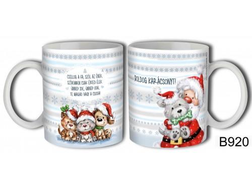 (B920) Bögre 3 dl - Csillog a fa - Karácsonyi ajándékok