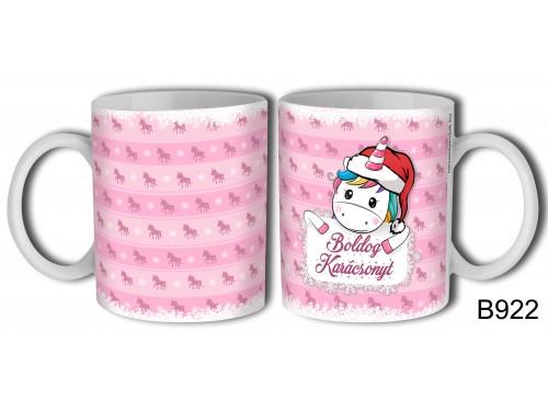 (B922) Bögre 3 dl - Unikornis Karácsonyos - Karácsonyi ajándékok