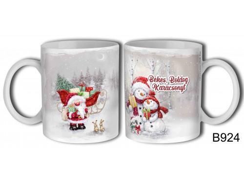 (B924) Bögre 3 dl - Hóemberes - Karácsonyi ajándékok
