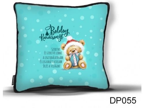 (DP055) Díszpárna 26 cm x 26 cm - Szeretni és szeretve lenni - Karácsonyi ajándék